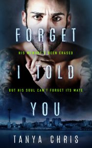 Cover for Forget I Told You features a man holding his finger to his lips in a shush gesture