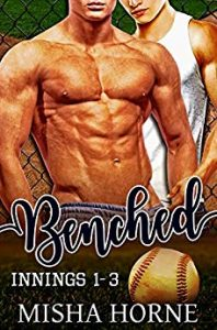 Cover of Benched by Mishal Horne features two men and a baseball