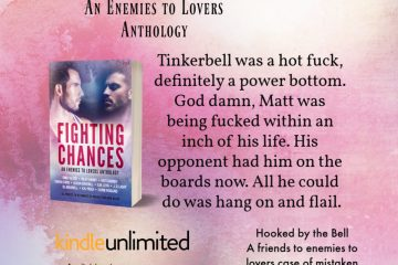 Includes a quote from Hooked by the Bell with the cover of Fighting Chances