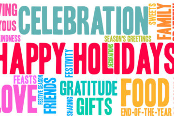 Happy Holidays Word Cloud