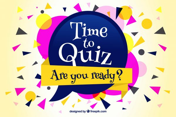 "Banner reads ""Time to quiz. Are you ready?"""