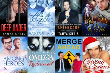 The covers of 8 of Tanya Chris's novels