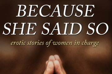 A cropped version of the Because She Said So cover featuring the title against a backdrop of male skin