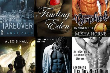 Covers of 6 M/M BDSM titles