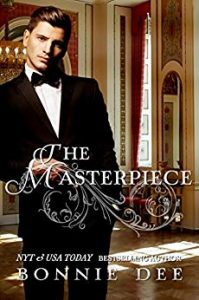 Cover for The Masterpiece by Bonnie D shows a man in a tuxedo in an elegant drawing room