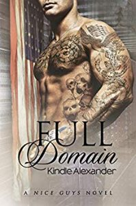 Cover for Full Domain by Kindle Alexander shows a barechested man covered in tattoos