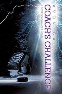 Cover for Coach's Challenge by Avon Gale shows a hockey skate and puck