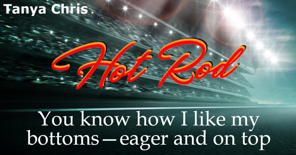 """Text says """"You know how I like my bottoms - eager and on top."""" Image is of an arena"""